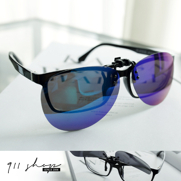 Leisure.可掀式方形/橢圓夾片抗UV400偏光鏡片眼鏡族必備太陽眼鏡【f5018】*911 SHOP*