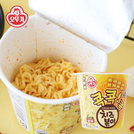 韓國 OTTOGI 不倒翁 起司風味乾拌杯麵 (杯裝) 55g 起司麵 起士 乾拌麵 乾拌杯麵 杯麵 泡麵 消夜