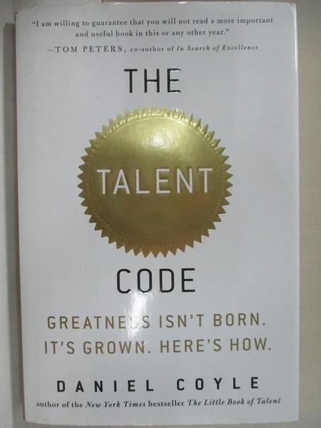 【書寶二手書T1/大學理工醫_KPG】The Talent Code: Greatness isn't Born…
