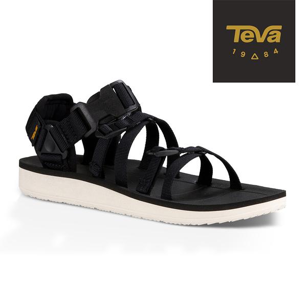 丹大戶外用品【TEVA】美國 女款 Alp Premier 經典緹花織帶涼鞋 1015182BLK 黑色