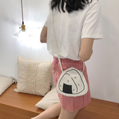 帆布袋 飯糰 印花 帆布包 磁釦 迷你 手機袋--側背包/斜背包【SPA202】 ENTER  07/19