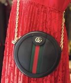 """■現貨在台 ■ 專櫃55折■ Gucci  全新真品 GG Ophidia """"supreme"""" 小牛皮小圓餅包 黑色"""