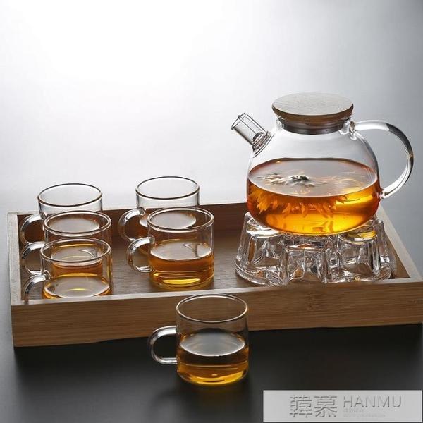 透明玻璃茶壺水果壺 可加熱煮茶壺大容量涼水壺白開杯家用  母親節特惠  YTL