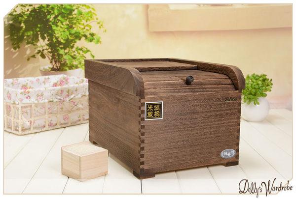 ☆Dolly生活館*╮100%好評日本市場同步銷售桐木米箱木米桶5KG用(炭化木)20800