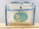 【震撼精品百貨】Hello Kitty_凱蒂貓~Sanrio HELLO KITTY防水收納包/透明手提包-藍#41874