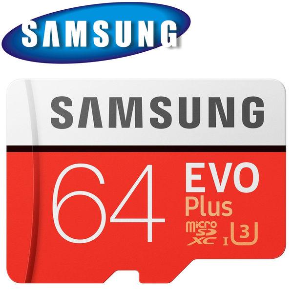 SAMSUNG 三星 64GB 64G 100MB/s EVO Plus microSDXC TF U3 C10 記憶卡