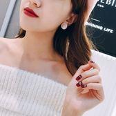 韓國東大門時尚優雅圓形絨布耳釘配飾品