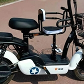 電動車兒童前置踏板自行車寶寶座椅支撐減震腳踏加粗安全舒適座子