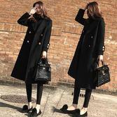 大衣外套 呢子大衣女冬裝新款韓版加厚中長款過膝顯瘦毛呢外套 萬客居