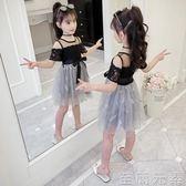 女童洋裝女童洋裝新款夏裝超洋氣童裝小女孩蓬蓬紗裙子公主裙潮 至簡元素