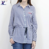 【秋冬新品】American Bluedeer - 條紋刺繡綁帶襯衫 二色