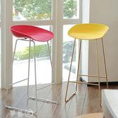 吧台椅 鐵藝吧台椅高腳凳家用吧台凳北歐鐵藝前台椅現代簡約咖啡廳酒吧椅 igo夢藝家