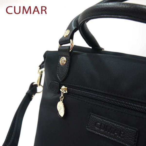 【CUMAR女包】輕量防潑水尼龍2way斜背包-黑