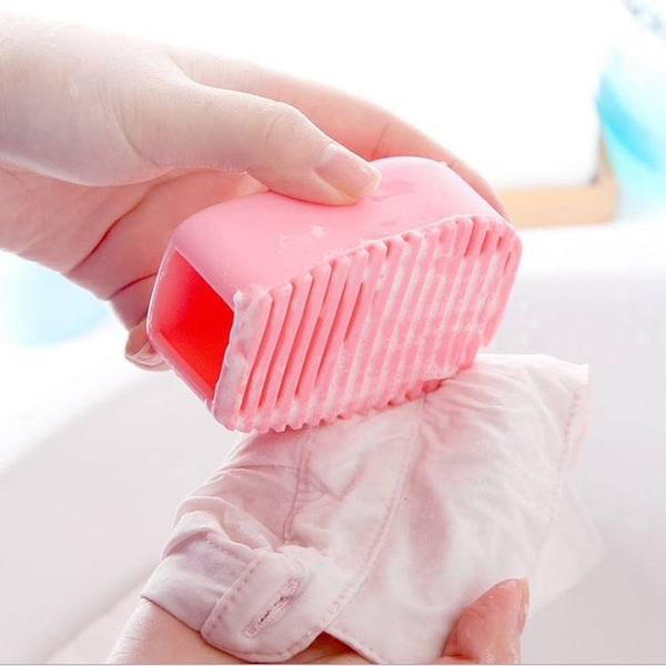 現貨-糖果色手握式加厚矽膠洗衣刷 迷你洗衣板 小號塑料搓衣板【A131】『蕾漫家』
