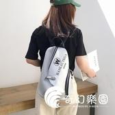 後背包  超火的雙肩包女大容量新款韓版時尚潮流百搭軟皮質背包-奇幻樂園