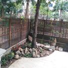花架 防腐木柵欄花園圍欄籬笆庭院裝飾 碳化屏風隔斷客廳木網格爬藤花架 快速出貨