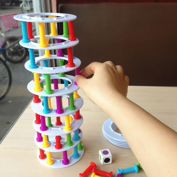 比薩塔疊疊高 平衡益智玩具 手眼協調 親子互動 趣味桌游 層層疊【快速出貨】
