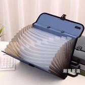 文件夾手提風琴包多層辦公用公文包商務學生塑料文件夾大容量鳳琴包顏色隨機