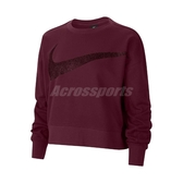 Nike 長袖T恤 Dri-FIT Get Fit Fleece Sparkle Training Top 紫 女款 運動休閒 【ACS】 CU9015-638