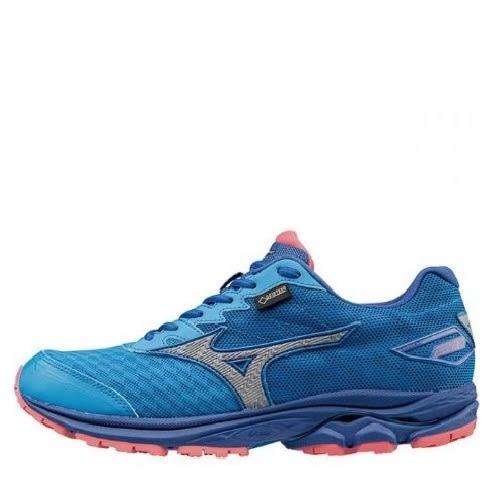 MIZUNO WAVE RIDER 20 G-TX 女鞋 慢跑 透氣 網布 籃綠 銀【運動世界】J1GD177405