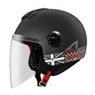 【東門城】ASTONE CJ500 LL11 (平光黑/黑銀) 半罩式安全帽 內藏墨鏡