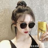 韓版墨鏡2019新款潮抖音網紅街拍偏光太陽鏡女防紫外線小臉款 漾美眉韓衣