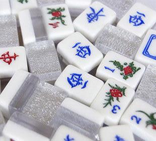 麻將 木盒水晶旅行麻將大號-多色