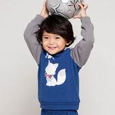 【愛的世界】彈性圓領長袖上衣/1~4歲-中國製- ★秋冬上著