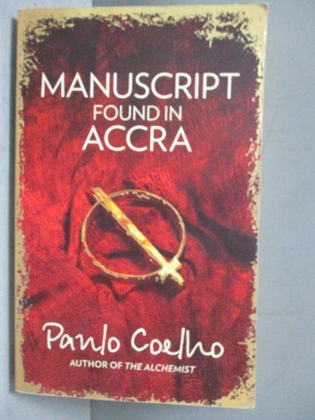 【書寶二手書T5/原文小說_OPM】Manuscript Found in Accra_Paulo Coelho