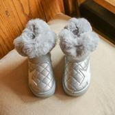 新款女童雪地靴韓版兒童短靴冬季翻毛加絨保暖低筒防滑棉鞋