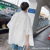 夏季新款韓版寬鬆男士襯衫潮流學生百搭半袖襯衣艾美時尚衣櫥