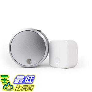[9美國直購] August Home ASL-03, AC-R1 Smart Lock Pro + Connect Wi-Fi Bridge Bundle, 100, Alexa