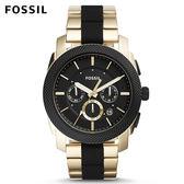↖400折價券 現領現折↘ FOSSIL Machine 黑金雙色不鏽鋼手錶 男