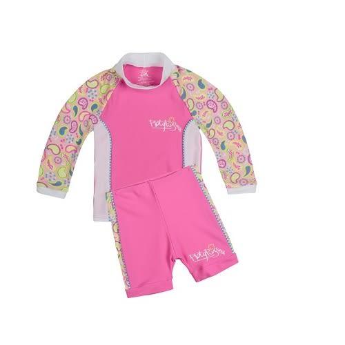 兒童泳衣 寶寶二件式泳衣  Xtra life 萊卡 澳洲鴨嘴獸 抗UV UPF 50+  0-2歲