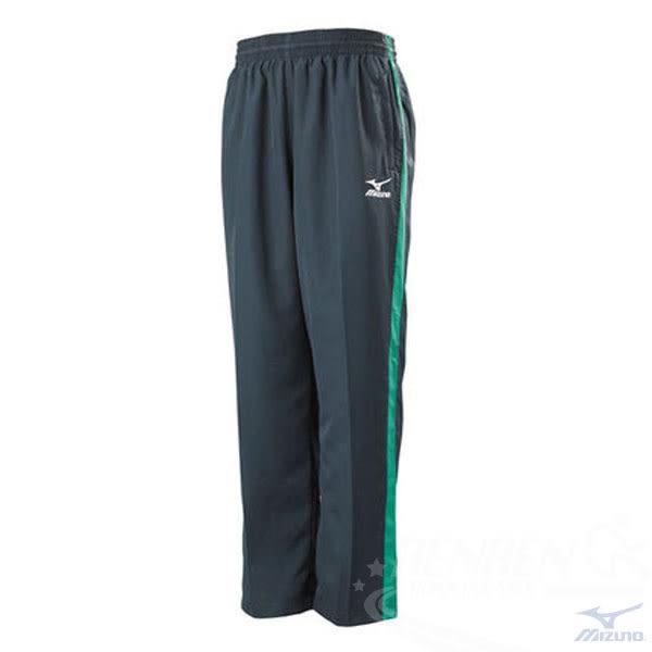 MIZUNO 美津濃 男平織運動長褲(灰*綠)。