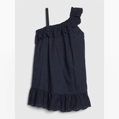 Gap女幼甜美荷葉邊飾連衣裙539856-海軍藍色