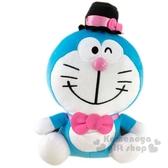 〔小禮堂〕哆啦A夢 x Hello Kitty 絨毛玩偶娃娃《L.粉藍》玩具.擺飾 5983164-77562