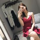 夏季新款時尚氣質顯瘦禮服性感夜店女裝潮露背吊帶抹胸連身裙   糖糖日系森女屋