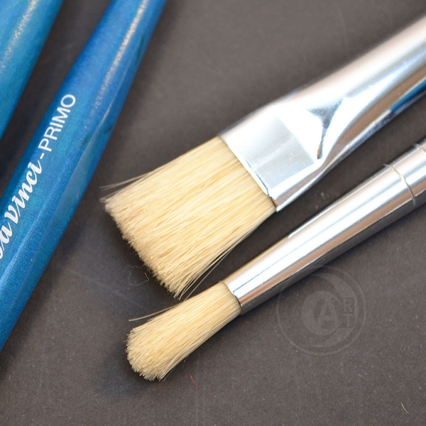 『ART小舖』da vinci德國達芬奇 PRIMO 359R 平頭藍桿豬鬃毛 兒童畫筆 短桿筆刷 單支