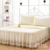 新年鉅惠 床裙式床罩單件蕾絲花邊韓版公主風1.8m床套席夢思保護墊防滑夏季