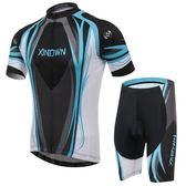 自行車衣-(短袖套裝)-時尚舒適排汗吸濕男單車服套裝73er12【時尚巴黎】