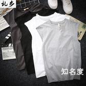 背心 棉質坎肩運動健身韓版無袖T恤男生夏裝寬鬆加大碼打底運動汗衫潮 5色S-5XL