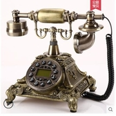 悅旗旋轉盤仿古歐式老式電話機復古家用時尚創意有線電話機座機 MKS新年慶