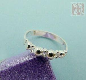 銀 小珠子活口戒指 漂亮 銀打造 佩戴舒適