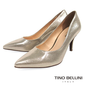Tino Bellini 巴西進口耀眼金蔥細緻布紋尖楦跟鞋 _ 金 A83038 歐洲進口款