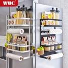 免打孔冰箱磁吸置物架側面收納盒磁鐵壁掛式調料架子側保鮮膜掛架  【端午節特惠】