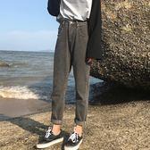 秋裝女裝韓版鬆緊腰高腰寬鬆顯瘦小腳褲牛仔褲長褲直筒褲九分褲潮