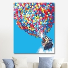 DIY壁畫 icision數字油畫diy手工填色油彩畫客廳風景減壓裝飾畫飛屋環游記