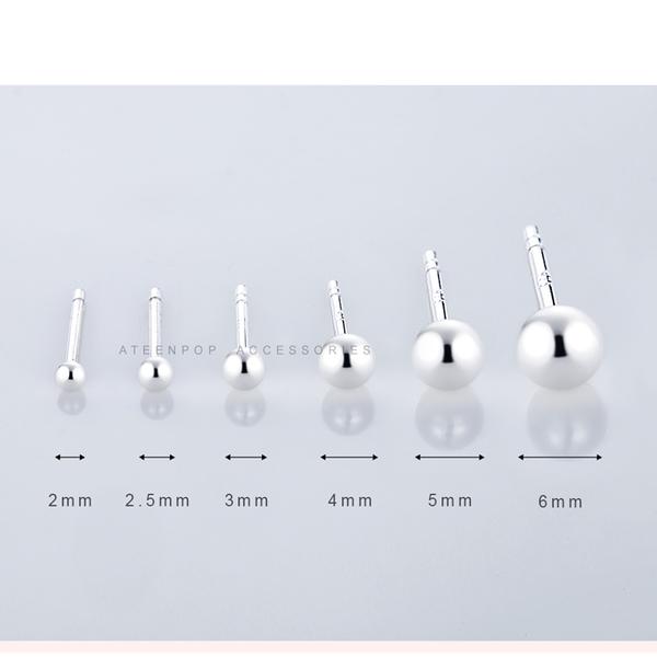 925純銀耳環 ATeenPOP 簡約圓珠耳環 耳棒 耳骨 抗過敏 中性耳環 男耳環 女耳環 一對價格