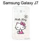 Hello Kitty 透明軟殼 [問候] Samsung Galaxy J7 J700F【三麗鷗正版授權】